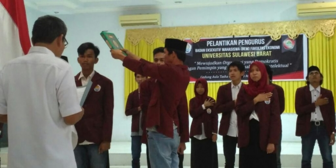 Pasca Dilantik, BEM Fekon Fokus Program Kerja Pro-Mahasiswa
