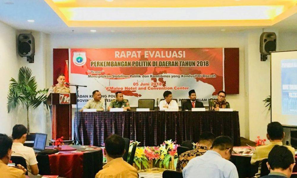 Kapolda Sulbar Jadi Pembicara Rapat Evaluasi Perkembangan Politik