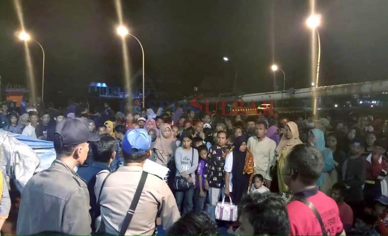 Lebihi Kapasitas, Polres Mamuju Turunkan 213 Penumpang Ilegal