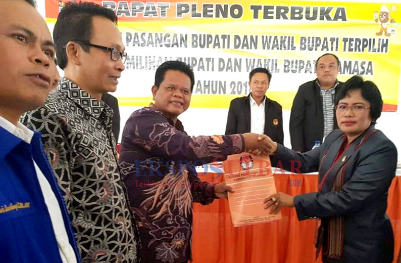 KPU Mamasa Tetapkan Harmonis Sebagai Bupati dan Wakil Bupati Terpilih