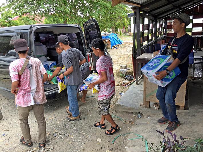 Hipma Matra Peduli Korban Gempa dan Tsunami di Sulteng