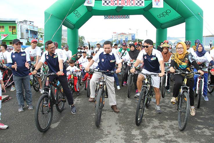 Ribuan Peserta Etape Manakarra Ikuti Sepeda Nusantara