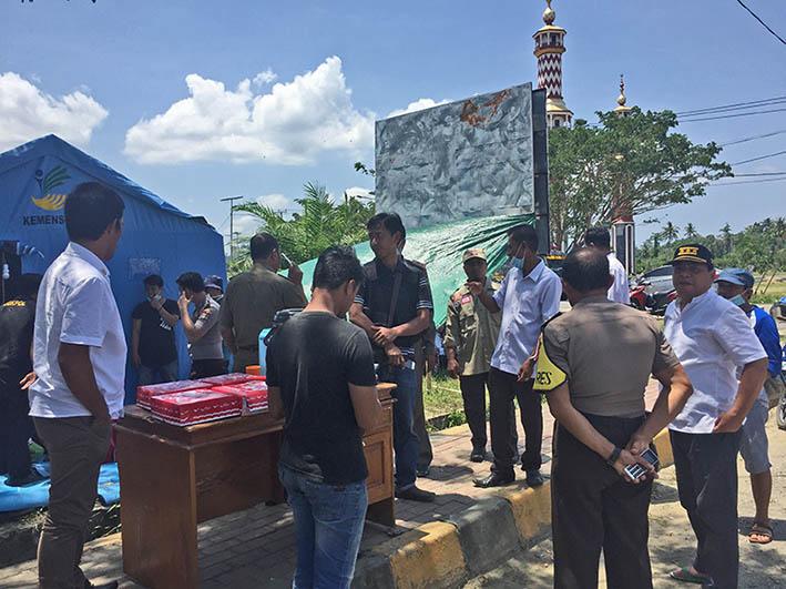 Pemkab Pasangkayu Bangun Posko Logsitik Untuk Rombongan Penyalur Bantuan ke Donggala-Palu