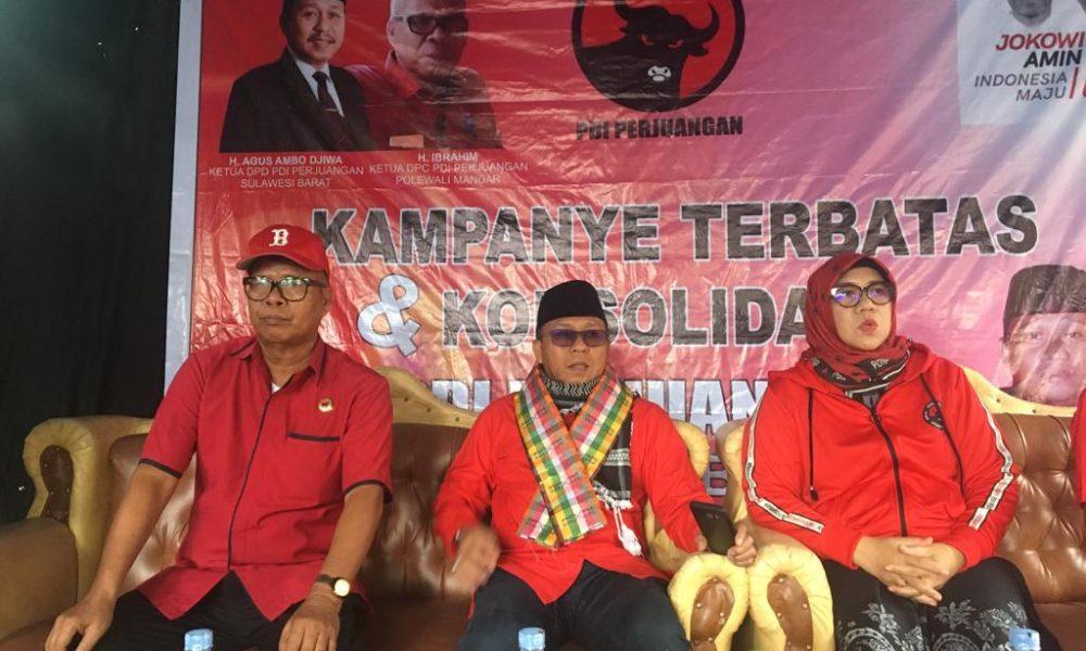 Menangkan Jokowi, Ketua PDIP Sulbar Safari Kabupaten