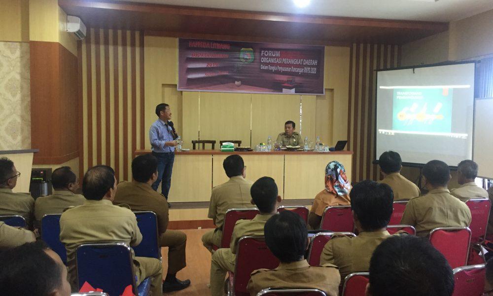 Forum OPD Pemkab Pasangkayu Untuk Rancangan RKPD 2020