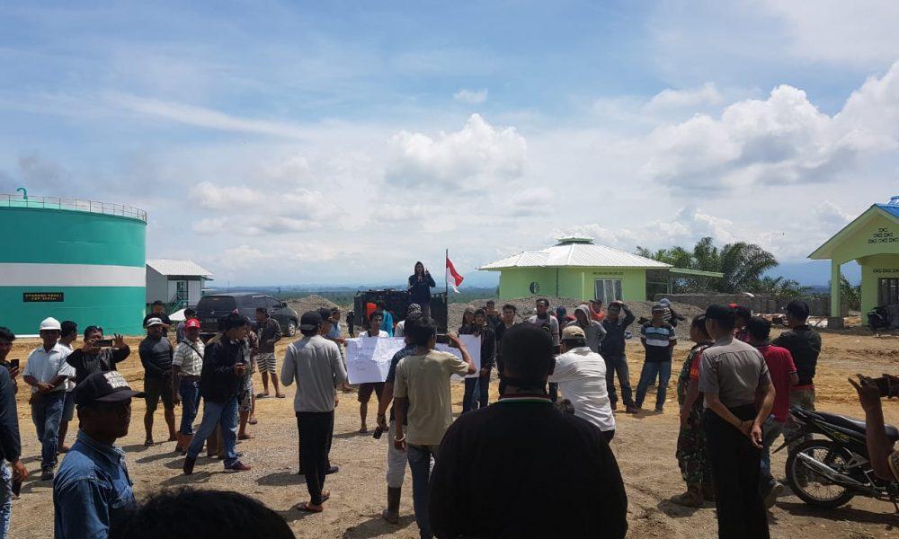 Timbulkan Bau, Perusahaan Pengelolaan CPO di Sarudu di Demo