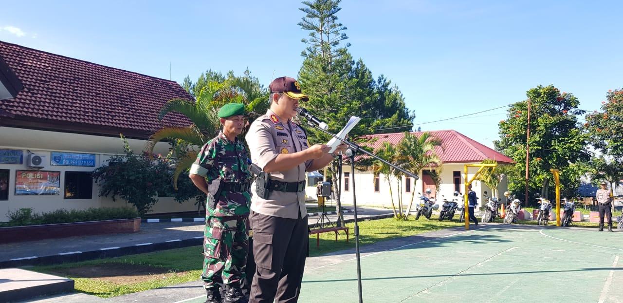 Polres Mamasa Gelar Apel Pasukan Pengamanan Pemilu 2019