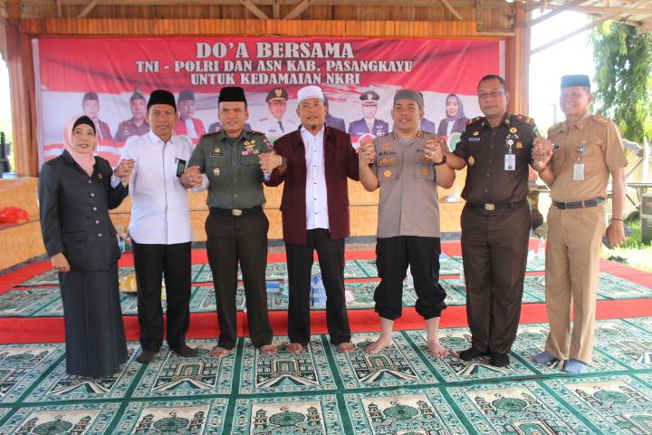 Damai NKRI, Pemkab Pasangkayu dan Polres Matra Doa Bersama