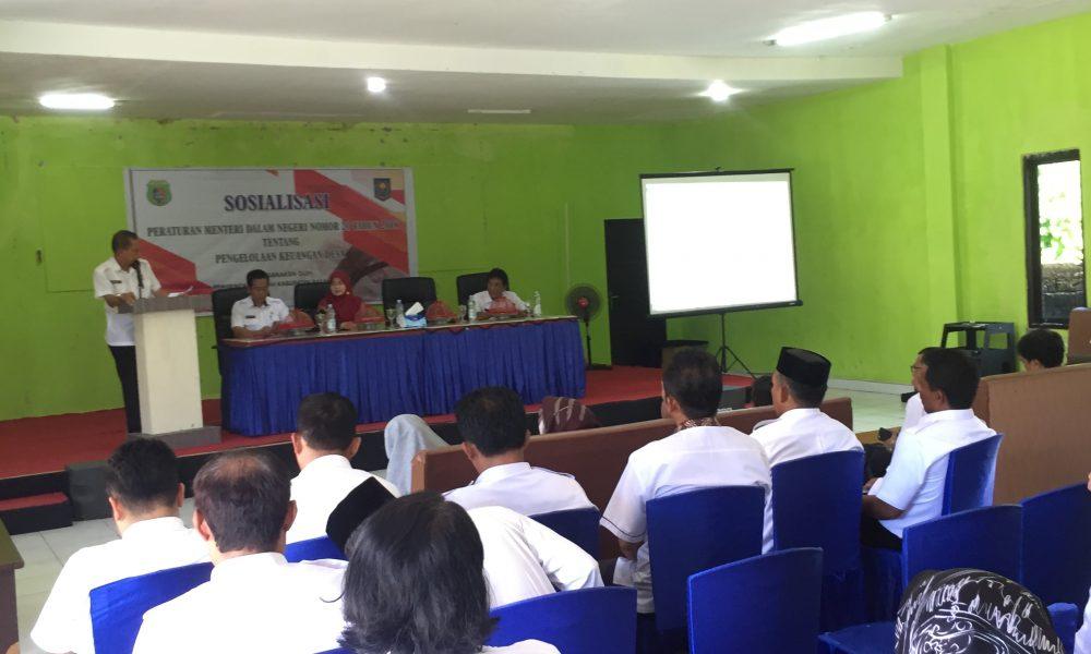 Pemkab Pasangkayu Sosialisasikan Permendagri Pengelolaan Keuangan Desa