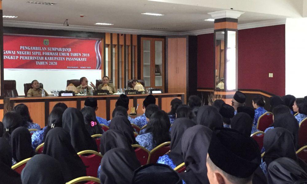 Ini Pesan Bupati Pasangkayu ke PNS Formasi 2018
