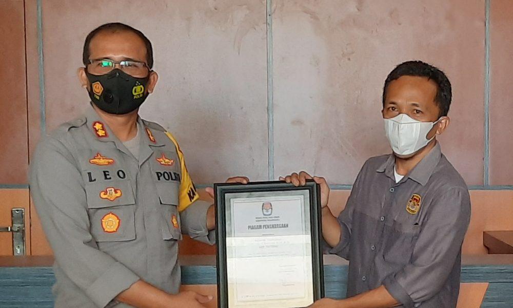 Pengamanan Pilkada Sukses, Kapolres Pasangkayu Diganjar Penghargaan