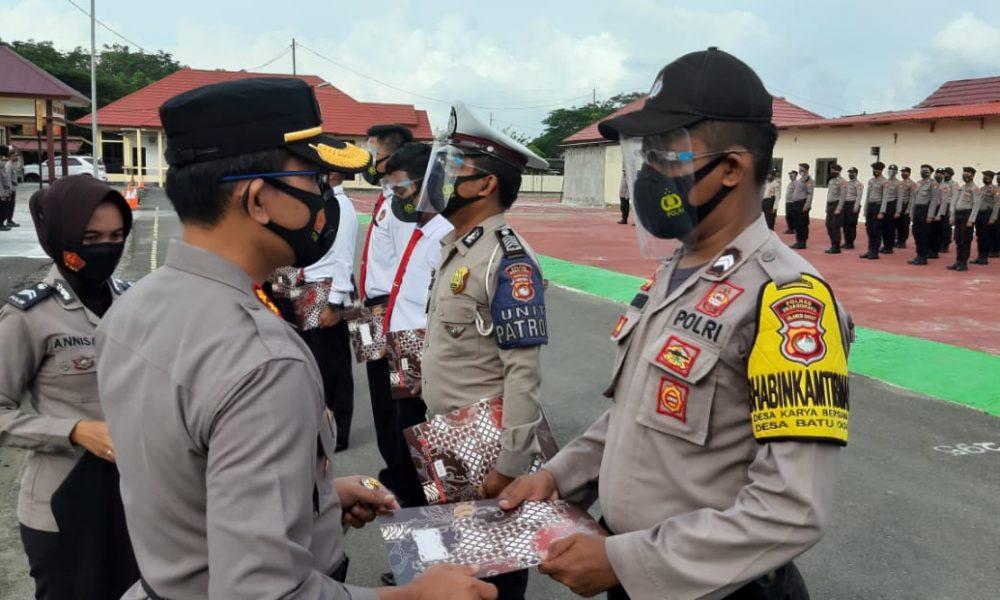Berprestasi, Tujuh Personel Polres Pasangkayu Diganjar Penghargaan