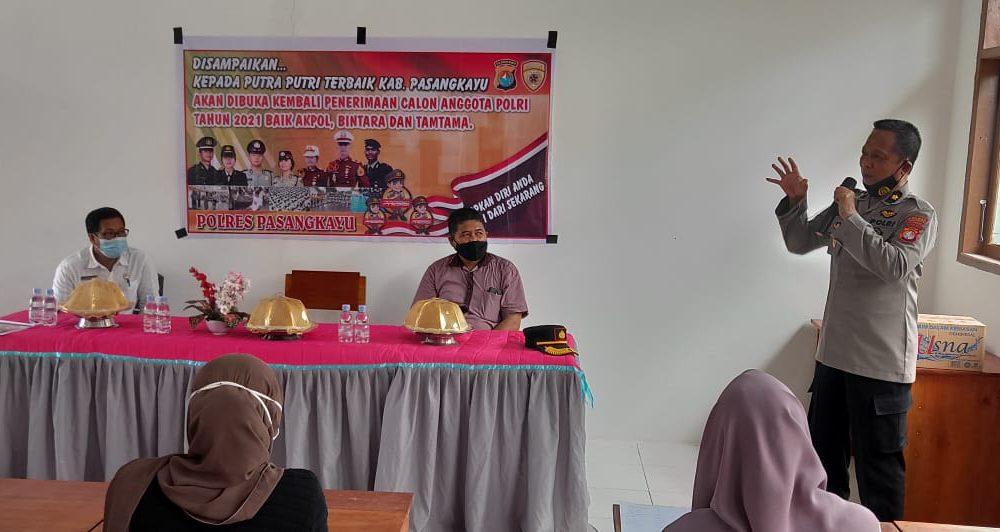 Sosialisasi Rekrutmen Anggota Polri Menyasar Sekolah Menengah di Pasangkayu