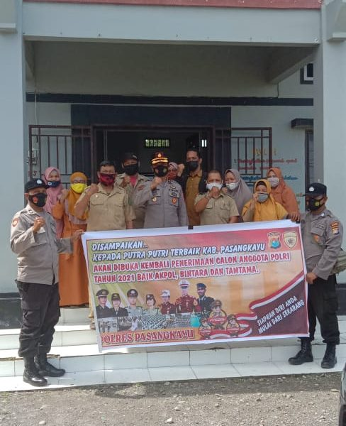 Polres Pasangkayu Massifkan Sosialisasi Penerimaan Anggota Polri T.A 2021