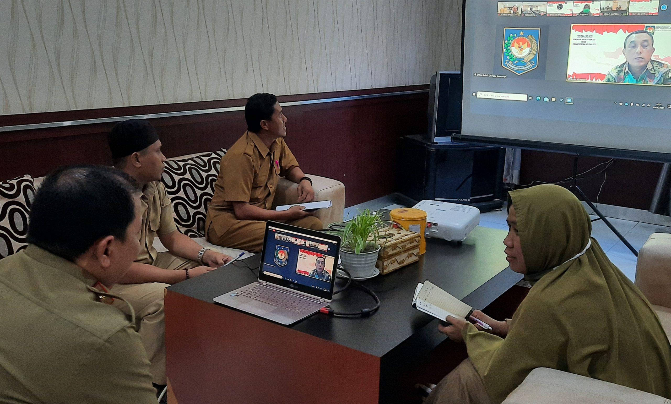Sekkab Pasangkayu Vidcon Terkait Penyusunan RKPD 2022