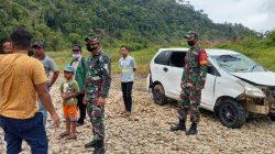 Mobil Avanza Terjun Ke Sungai, Tiga Penumpang Hanyut terbawa Arus