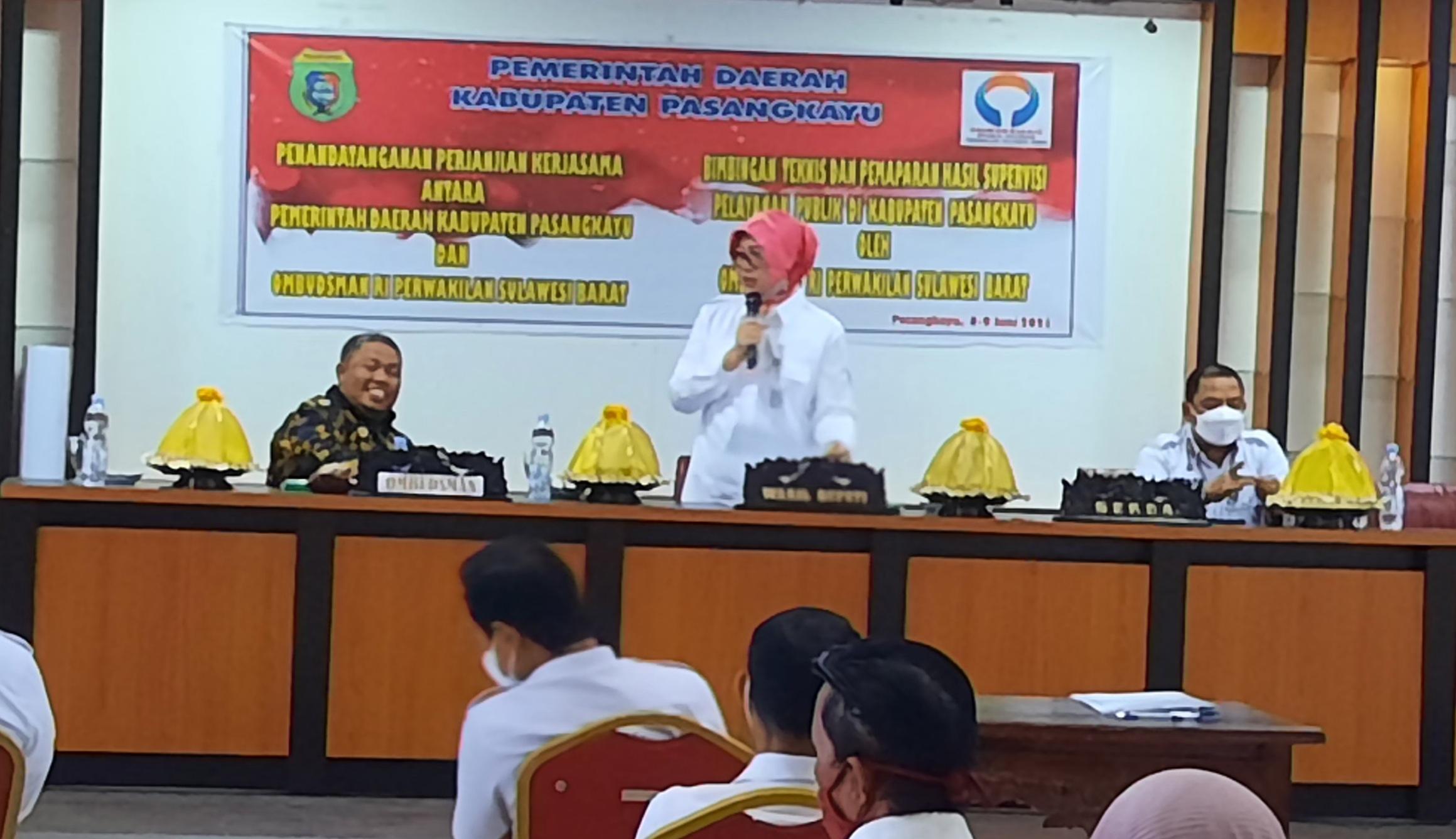 Tingkatkan Pelayanan, Pemkab Pasangkayu-Ombudsman Jalin Kerjasama