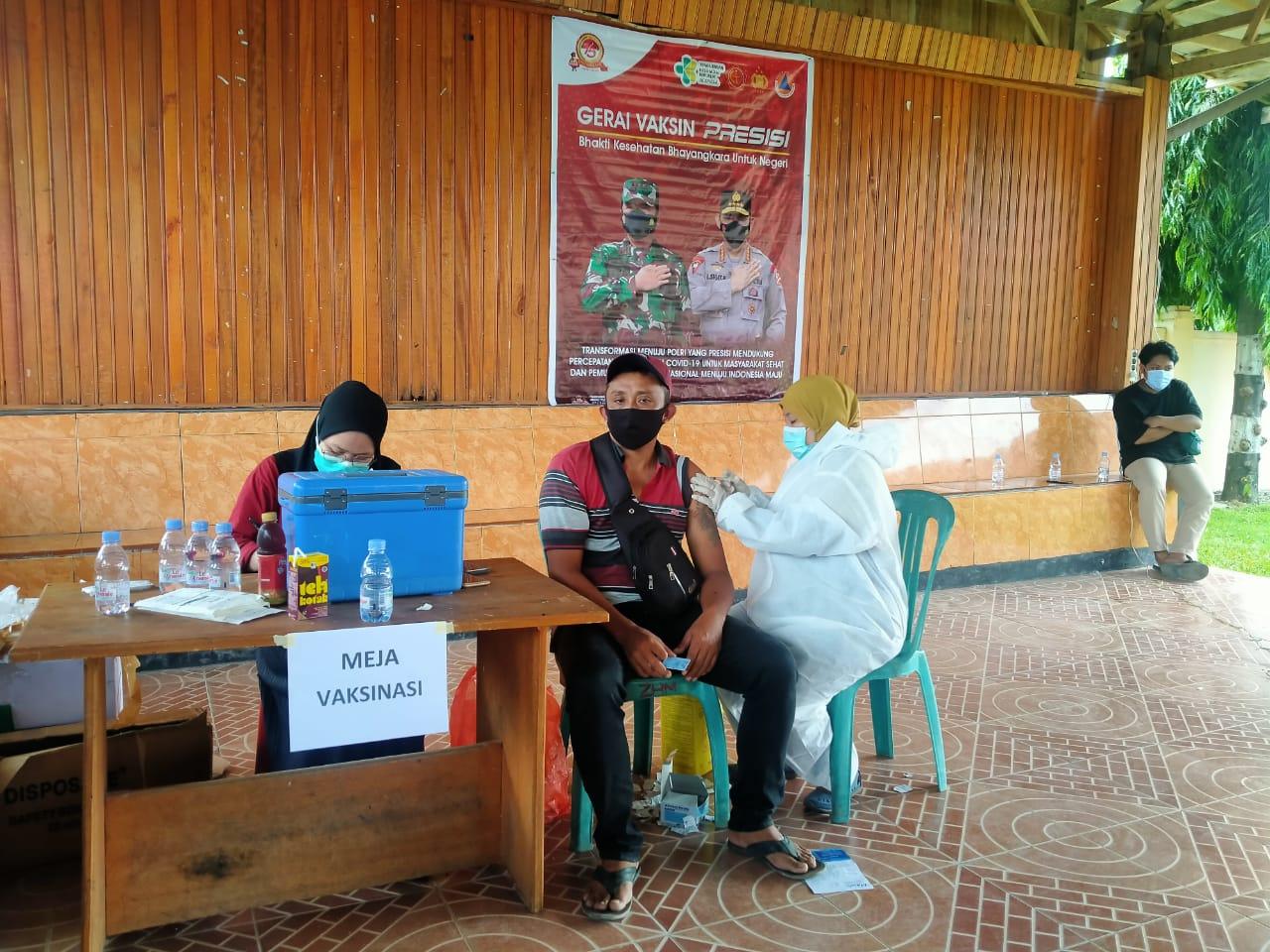 Lagi, 120 Orang di Vaksin Si Dokkes Polres Pasangkayu