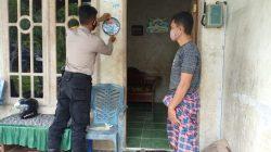 Polres Pasangkayu Tandai Rumah Warga Telah Divaksin